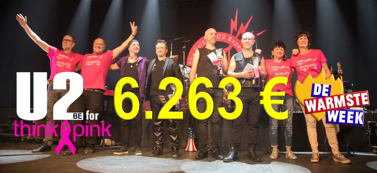 """Recordopbrengst 4° editie """"U2be for Think Pink"""""""